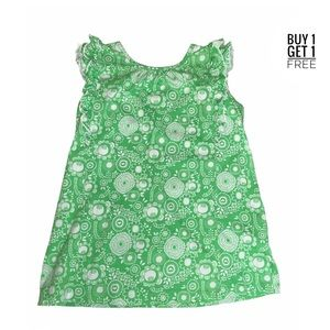 Hanna Andersson Girls Green / White Dress Size 8